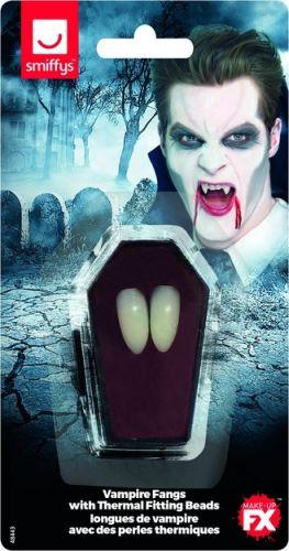Smiffys Make-Up FX, Vampire Fangs, White