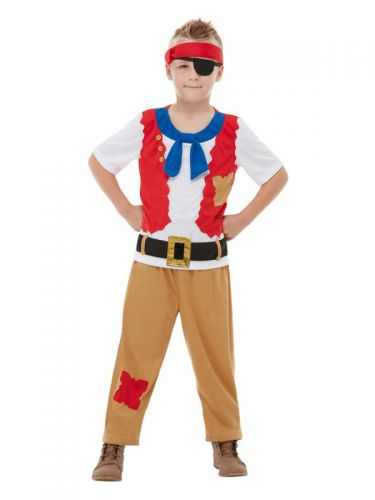 Horrible Histories Pirate Crew Costume, Red