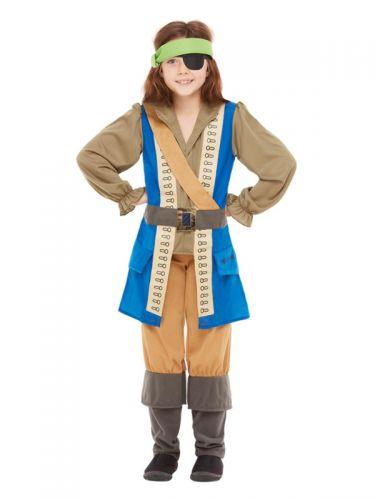 Horrible Histories Pirate Captain Costume, Blue