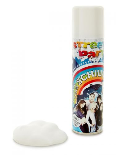 Party Foam Spray, White