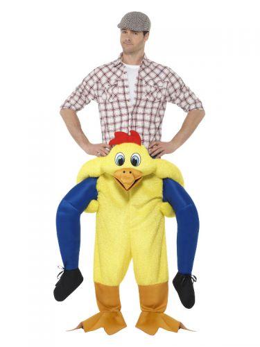 Piggyback Chicken Costume, Yellow