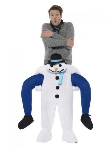Piggyback Snowman Costume, White