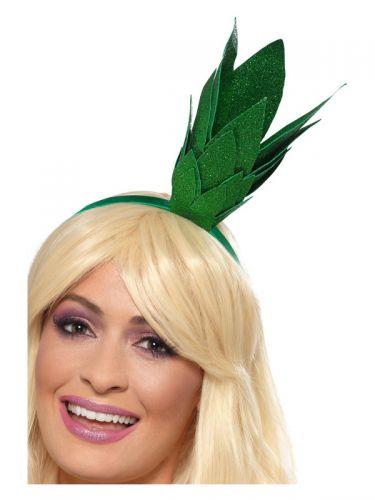 Pineapple Stalk Glitter Headband, Green