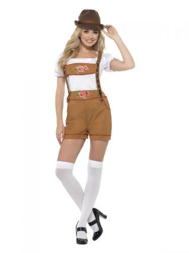 Sexy Bavarian Beer Girl Costume, Brown