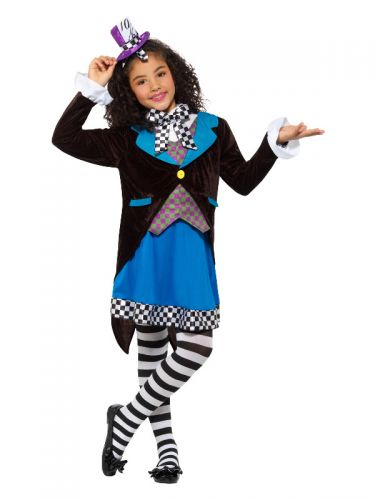 Deluxe Little Miss Hatter Costume, with Dress, Mul