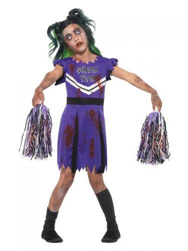 Dark Cheerleader Costume, Purple & Black