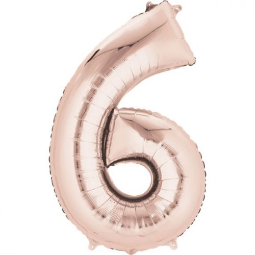 """Rose Gold Giant 34"""" large Numbered Foil Balloons-6"""