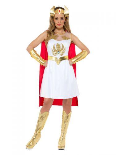 She-Ra Glitter Print Costume, White
