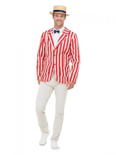 20s Barber Shop Costume, Red & Cream