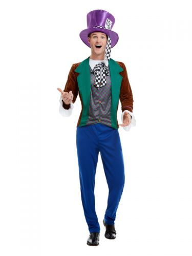 Mad Hatter Costume, Multi-Coloured