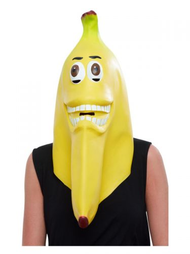 Banana Latex Mask, Yellow