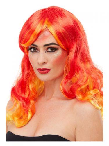Smiffys Make-Up FX, Fire Aqua Kit, Red
