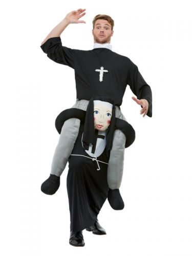 Piggyback Nun Costume, Black