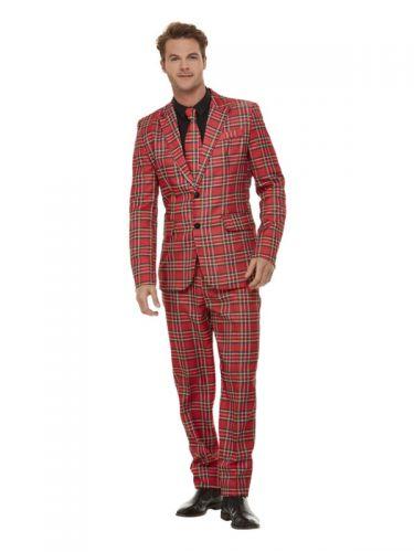 Tartan Suit, Red