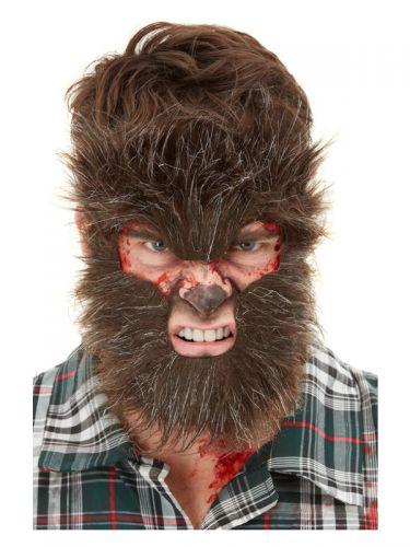 Smiffys Make-Up FX, Werewolf Face Fur, Brown