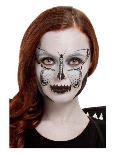 Smiffys Make-Up FX, Dark Botanicals Moth Kit, Aqua