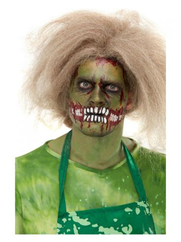 Smiffys Make-Up FX, Zombie Face Transfer, Green