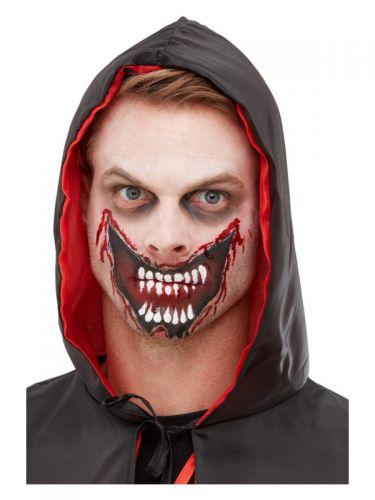 Smiffys Make-Up FX, Slashed Mouth Kit, Aqua, Red