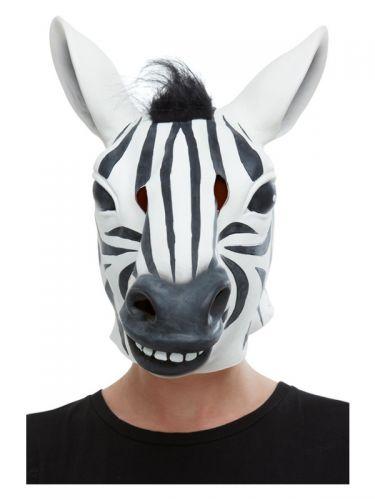 Zebra Latex Mask, Black & White
