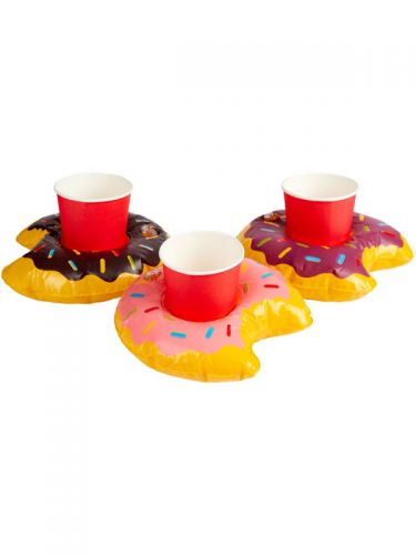 Inflatable Donut Drink Holder Ring, Assorted