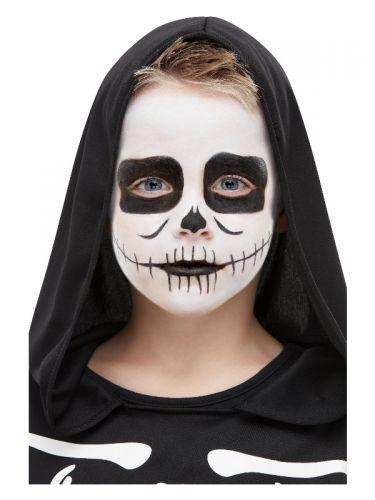 Smiffys Make-Up FX, Kids Skeleton Kit, Aqua, Black