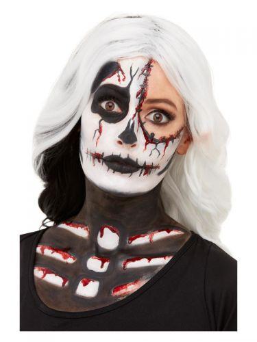 Smiffys Make-Up FX, Skeleton Kit, Aqua, Black & Wh