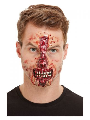 Smiffys Make-Up FX, Exposed Nose & Mouth, Red