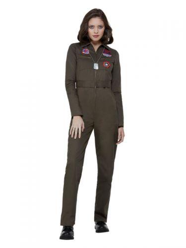 Top Gun Ladies Costume, Khaki