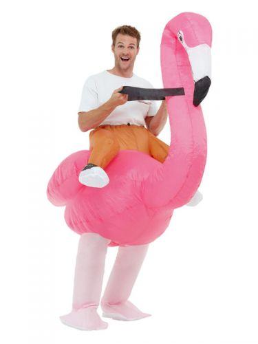 Inflatable Ride Em Flamingo Costume, Pink