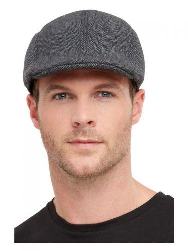 20s Gangster Flat Cap, Grey