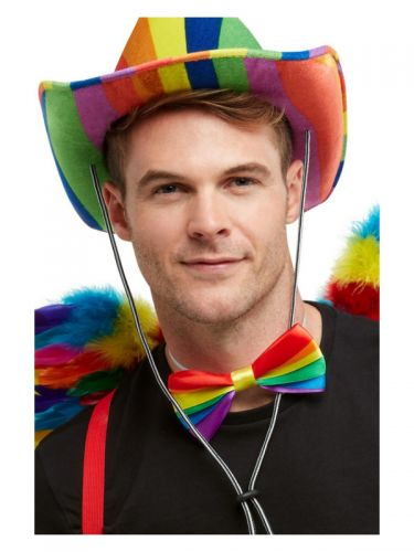 Rainbow Bow Tie, Multi-Coloured