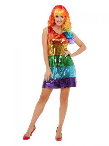 All That Glitters Rainbow Costume, Multi-Coloured