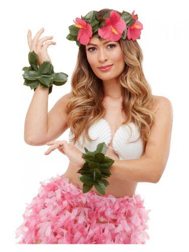Hawaiian Luau Tiki Kit, Green & Pink