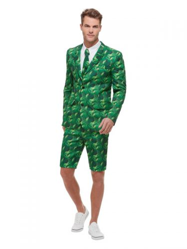 Tropical Palm Tree Suit, Green