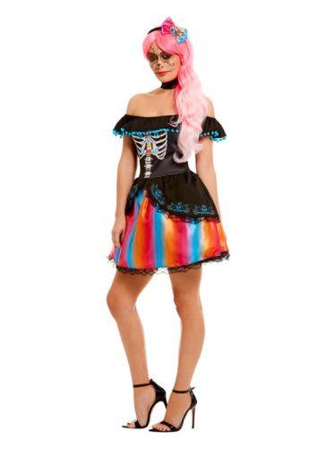 Day of the Dead Senorita Ombre Costume, Black
