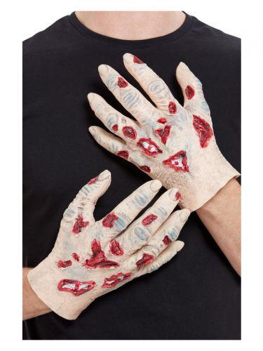 Zombie Latex Hands, Beige
