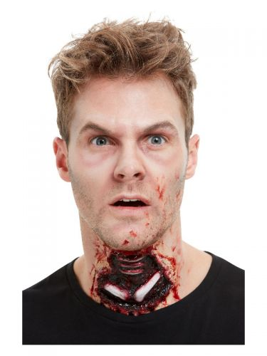 Smiffys Make-Up FX, Latex Exposed Throat Wound, Re