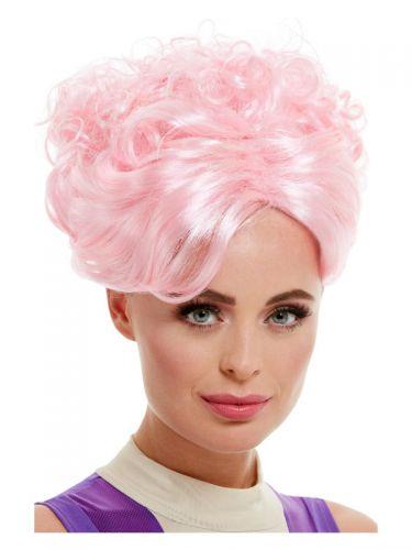 Trapeze Artist Wig, Pink