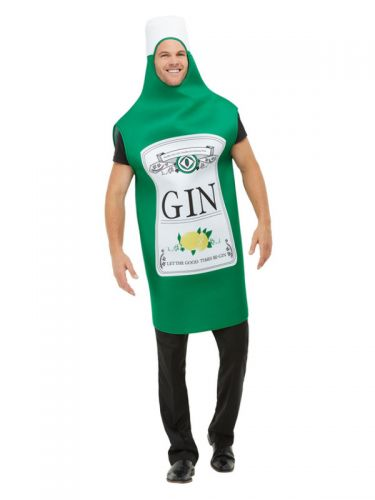 Gin Bottle Costume, Green