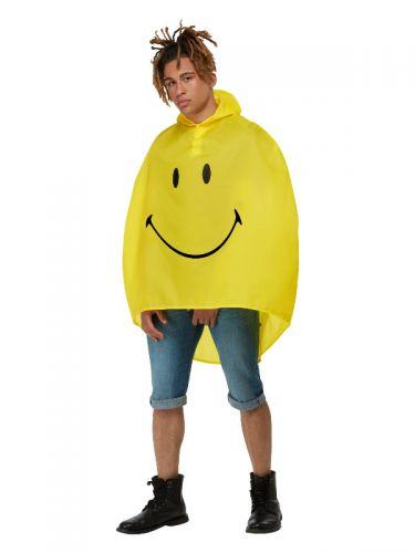 Smiley Party Poncho, Yellow & Black