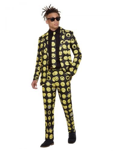 Smiley Stand Out Suit, Yellow & Black