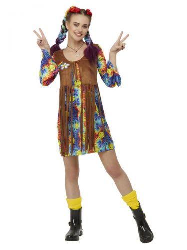 Smiley Hippy Dress, Multi-Coloured