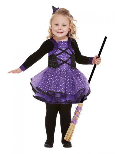 Toddler Pretty Star Witch Costume, Purple