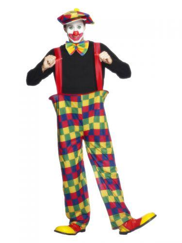 Hooped Clown Costume, Multi-Coloured