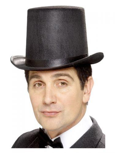 Stovepipe Topper Hat, Black