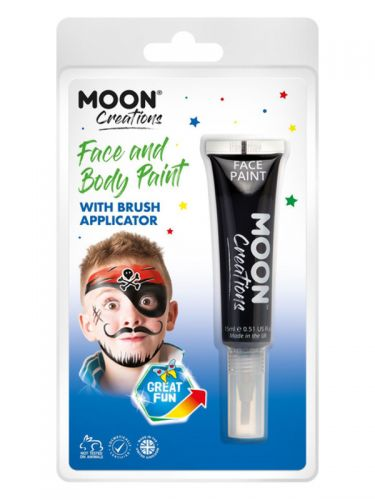 Moon Creations Face & Body Paints, Black