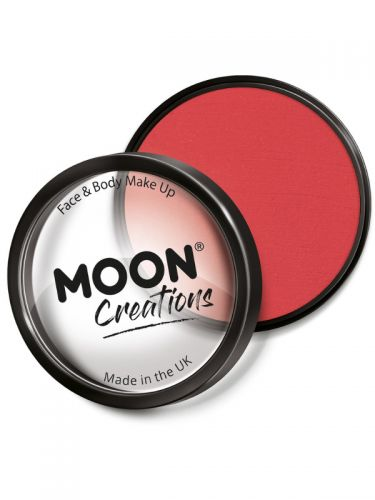 Moon Creations Pro Face Paint Cake Pot, Bright Red