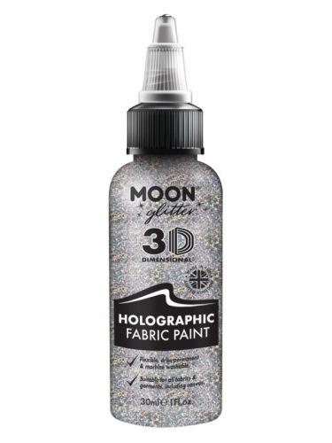 Moon Glitter Holographic Glitter Fabric Paint, Sil