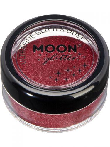 Moon Glitter Classic Ultrafine Glitter Dust, Red