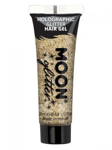 Moon Glitter Holographic Glitter Hair Gel, Gold